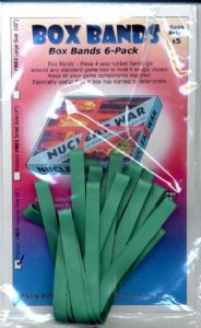 Box Bands : Regular Size (Green) Pack of 6